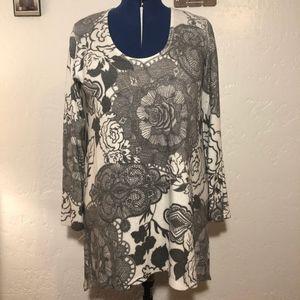 American Twist Los Angeles sweater blouse, size XL